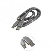 Кабель USB3.0 - Type-C SmartBuy 1м хлопок (iK-3012silver)