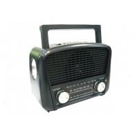 Радиоприемник HN-289 (Fm/USB/microSD/акб/фонарь/PowerBank) черный Haoning