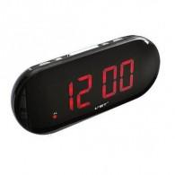 Часы настольные VST-717-1 крас.цифры, чер.корпус (дата, темп., будильник,4*ААА)