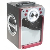 Колонка портативная KTS-822ch (Bluetooth/USB /microSD/FM/караоке) красная