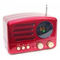 Радиоприемник М-162ВТ (Bluetooth/USB/microSD/Fm/AUX/акб) красный Meier
