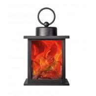 Камин светодиодный Фаzа FL-H19R (180*120*120мм, 3*АА,) с эффектом живого огня