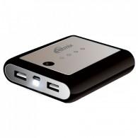 Внешний аккумулятор 10400mAh Ritmix 1USB*2.1A+фонарик (RPB-10407LT)