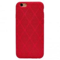Чехол для iPhone 6 красный рифленый (91100)