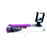 Селфи штатив Activ 201 фиол с зеркалом проводной