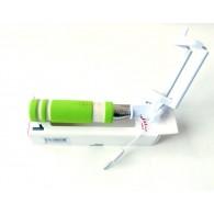 Селфи штатив RockBox Mini 13,8-48см проводной зеленый