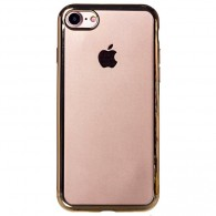 Чехол для iPhone 7\8 силиконовый ультратонкий золото