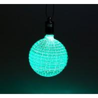 """Подвеска """"Шар ребристый"""" 1 LED, RGB (2361559)"""