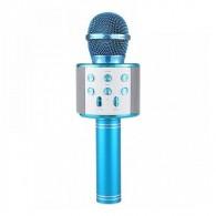 Микрофон со встр.колонкой для караоке (microSD, Bluetooth) WS-858 синий
