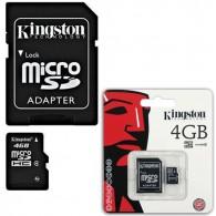 Карта памяти microSDHC Kingston 4Gb Class 4 с адаптером