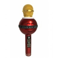 Микрофон со встр.колонкой для караоке (microSD, Bluetooth) WS-878 красный