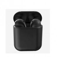 Гарнитура Bluetooth i12 черная (104264)
