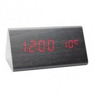 Часы настольные VST-861-1 крас.цифры, чер.корпус(дата,темп., будильник,4*ААА)
