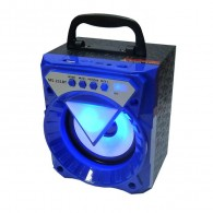 Колонка портативная MS-231BT (Bluetooth/USB /SD/FM/дисплей) синяя