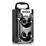 Колонка портативная MS-206BT (Bluetooth/USB /SD/FM/дисплей) черная