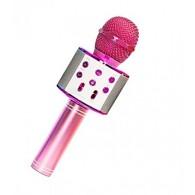 Микрофон со встр.колонкой для караоке (microSD, Bluetooth) WS-858 розов
