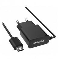 СЗУ SmartBuy + кабель microUSB (1000mAh) SBP-1010 \62