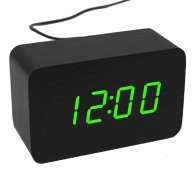 Часы настольные VST-863-4 зел.цифры, чер.корпус (дата, темп., будильник,4*ААА)