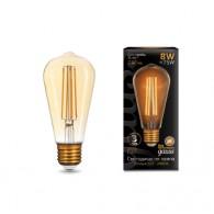 Лампа светодиодная Gauss ST64 8W 2400K E27 Filament
