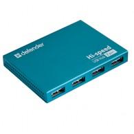 Хаб USB Defender Septima Slim 7 портов+б\п (83505)