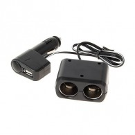 Разветвитель в авто на 2 устройства +USB (WF-0097)