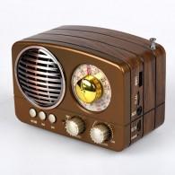 Радиоприемник М-161ВТ (Bluetooth/USB/microSD/Fm/AUX/акб) корич Meier