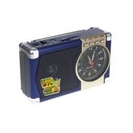 Радиоприемник М-201U (USB/microSD/AUX/акб 18650/часы) синий Meier