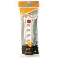 Удлинитель Jazzway EX-06GS-300 (6роз , 3м, 10А, заземл.,выкл.)