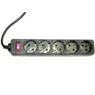 Сетевой фильтр ФАZA FOP-05GS-300 черный (5 роз, 3м, 10А)