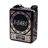 Радиоприемник XB-906 (Fm/USB/SD/microSD/акб/4*R06) черный Waxiba