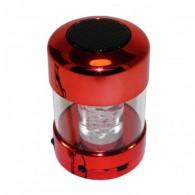 Мини-колонка LCA16 (Bluetooth, USB, microSD) светящаяся красная хром