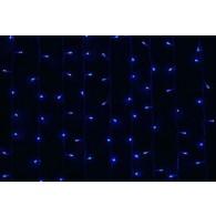 Уличная штора 625 LED 2,5*1,5м синяя, мигает бел, прозр.шнур (OLDCL625-TB-E-F)