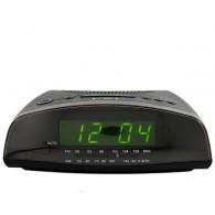 Часы настольные VST-905-2 зел.цифры+радио (220V)