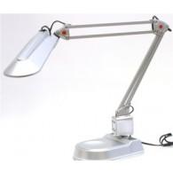 Светильник Camelion KD-017А (230V 11W) настольный + струбцина серебро