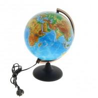 Глобус с подсветкой 25см физико-полит карта (1065210)