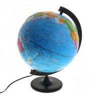 Глобус с подсветкой 32см физико-полит карта с рельефом (1065228)