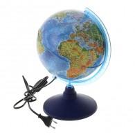 Глобус с подсветкой 21см физико-полит карта (1072886)