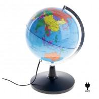 Глобус с подсветкой 20см физико-полит карта (506131)