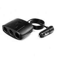 Разветвитель в авто на 3 устройства +USB Olesson 1635