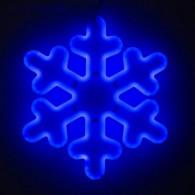 "Фигура светод. ""Снежинка"" 30х30х2см, синяя (5060089)"