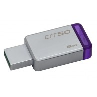 Флэш-диск Kingston 8 GB USB 3.0 Data Traveler 50 фиолетовый металл