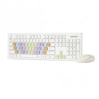 Комплект SmartBuy SBC-218346AG-W беспроводной белый с цв.клавишами