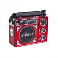 Радиоприемник XB-202 (USB/SD/FM/220V/2*R20) красный Waxiba