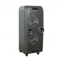"Колонка портативная 2*10"" EL10-06ch (Bluetooth/USB /microSD/FM/ПДУ/1беспр.мик)"