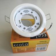 Светильник Ecola PGX53 белый 106*38мм