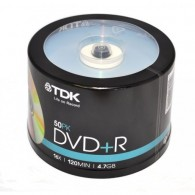TDK DVD+R 4.7Gb 16x Cake box /50