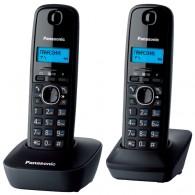 Телефон беспроводной Panasonic KX-TG1612 RU1(2 трубки) черный\белый