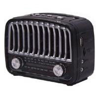 Радиоприемник HN-290UAT (Fm/USB/microSD/акб/фонарь/PowerBank) черный Haoning
