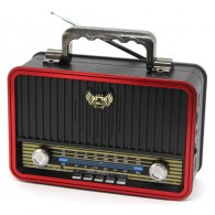 Радиоприемник MD-1907BT (Bluetooth/USB /SD/microSD/FM/акб/4*R20) чер Kemai