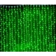 Эл. штора уличная 625 LED 2,5*1,5м зеленая (OLDCL625-TG-E)